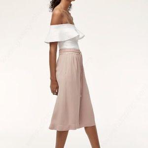 Babaton | Aritzia Luiz Cullotes blush pink wide leg pants